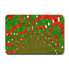 Background Abstract Christmas Pattern Small Doormat