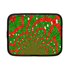 Background Abstract Christmas Pattern Netbook Case (small)