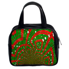 Background Abstract Christmas Pattern Classic Handbags (2 Sides)
