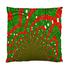 Background Abstract Christmas Pattern Standard Cushion Case (One Side)