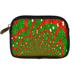 Background Abstract Christmas Pattern Digital Camera Cases