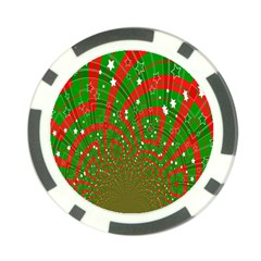 Background Abstract Christmas Pattern Poker Chip Card Guard (10 pack)
