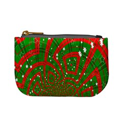 Background Abstract Christmas Pattern Mini Coin Purses