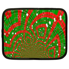 Background Abstract Christmas Pattern Netbook Case (XL)