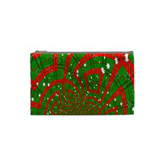 Background Abstract Christmas Pattern Cosmetic Bag (Small)