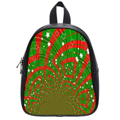 Background Abstract Christmas Pattern School Bags (Small)