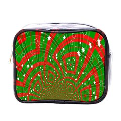 Background Abstract Christmas Pattern Mini Toiletries Bags