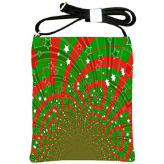 Background Abstract Christmas Pattern Shoulder Sling Bags
