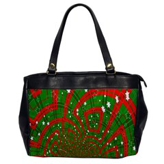 Background Abstract Christmas Pattern Office Handbags
