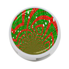 Background Abstract Christmas Pattern 4-Port USB Hub (One Side)