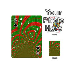 Background Abstract Christmas Pattern Playing Cards 54 (Mini)