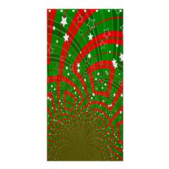 Background Abstract Christmas Pattern Shower Curtain 36  x 72  (Stall)