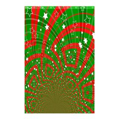 Background Abstract Christmas Pattern Shower Curtain 48  x 72  (Small)
