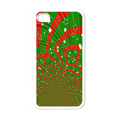 Background Abstract Christmas Pattern Apple iPhone 4 Case (White)