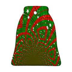Background Abstract Christmas Pattern Bell Ornament (Two Sides)