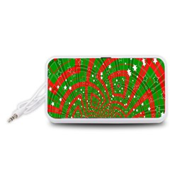 Background Abstract Christmas Pattern Portable Speaker (White)