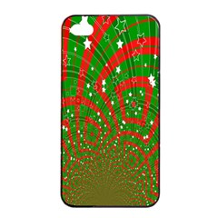 Background Abstract Christmas Pattern Apple Iphone 4/4s Seamless Case (black)