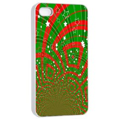 Background Abstract Christmas Pattern Apple iPhone 4/4s Seamless Case (White)