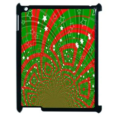 Background Abstract Christmas Pattern Apple iPad 2 Case (Black)