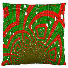 Background Abstract Christmas Pattern Large Cushion Case (two Sides)