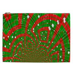 Background Abstract Christmas Pattern Cosmetic Bag (XXL)