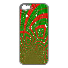 Background Abstract Christmas Pattern Apple iPhone 5 Case (Silver)