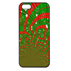 Background Abstract Christmas Pattern Apple Iphone 5 Seamless Case (black)