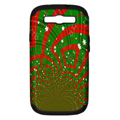 Background Abstract Christmas Pattern Samsung Galaxy S III Hardshell Case (PC+Silicone)
