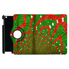 Background Abstract Christmas Pattern Apple iPad 3/4 Flip 360 Case