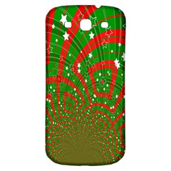 Background Abstract Christmas Pattern Samsung Galaxy S3 S III Classic Hardshell Back Case