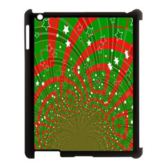 Background Abstract Christmas Pattern Apple iPad 3/4 Case (Black)