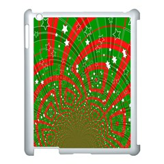 Background Abstract Christmas Pattern Apple iPad 3/4 Case (White)