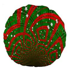Background Abstract Christmas Pattern Large 18  Premium Round Cushions