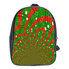 Background Abstract Christmas Pattern School Bags (XL)