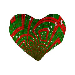 Background Abstract Christmas Pattern Standard 16  Premium Heart Shape Cushions