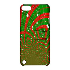 Background Abstract Christmas Pattern Apple Ipod Touch 5 Hardshell Case With Stand