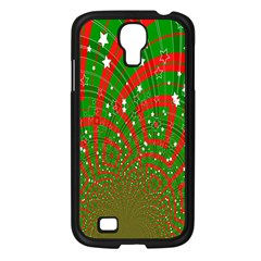 Background Abstract Christmas Pattern Samsung Galaxy S4 I9500/ I9505 Case (black)
