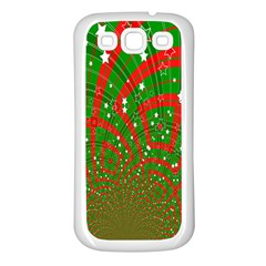 Background Abstract Christmas Pattern Samsung Galaxy S3 Back Case (White)