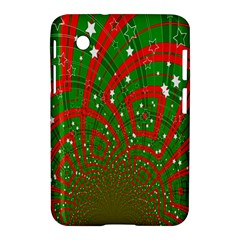 Background Abstract Christmas Pattern Samsung Galaxy Tab 2 (7 ) P3100 Hardshell Case