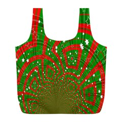 Background Abstract Christmas Pattern Full Print Recycle Bags (l)