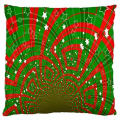 Background Abstract Christmas Pattern Large Flano Cushion Case (Two Sides)