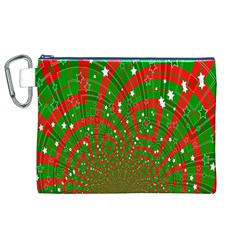 Background Abstract Christmas Pattern Canvas Cosmetic Bag (xl)