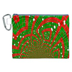 Background Abstract Christmas Pattern Canvas Cosmetic Bag (XXL)