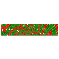 Background Abstract Christmas Pattern Flano Scarf (Small)