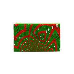 Background Abstract Christmas Pattern Cosmetic Bag (xs)