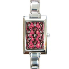 Background Abstract Pattern Rectangle Italian Charm Watch