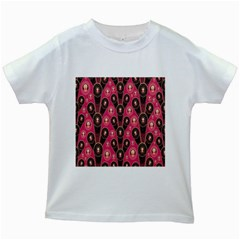Background Abstract Pattern Kids White T-Shirts