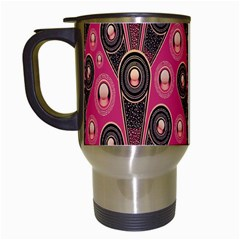 Background Abstract Pattern Travel Mugs (White)