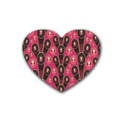 Background Abstract Pattern Heart Coaster (4 pack)