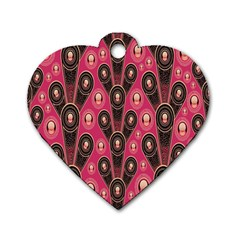 Background Abstract Pattern Dog Tag Heart (Two Sides)